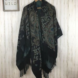 Soft Surroundings Damask Fringe Wrap
